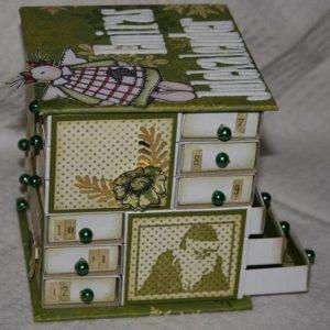 адвент-календарь из спичечных коробков