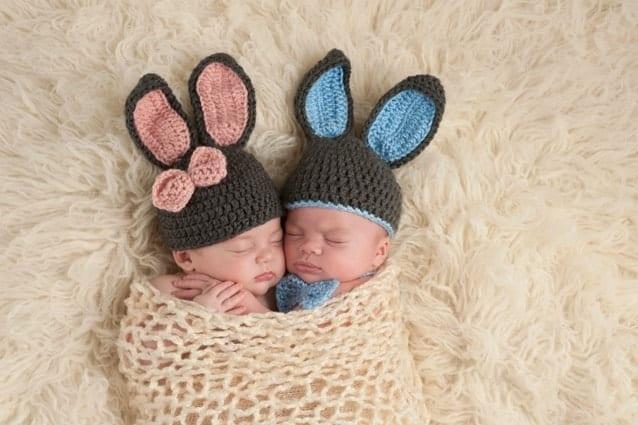 Два маленьких зайчика