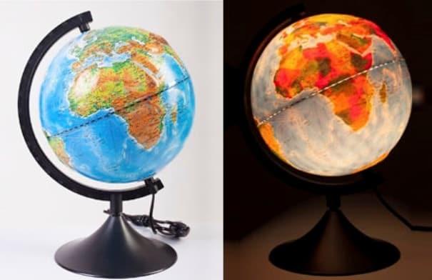 Глобус с двойной картой