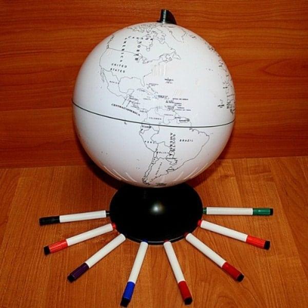 Контурный глобус