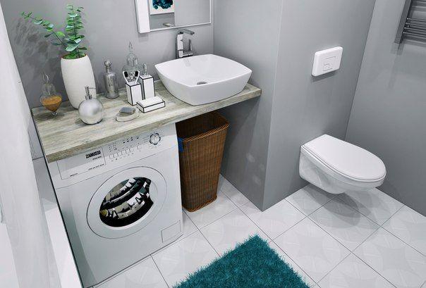 Подвесная сантехника в маленькой ванной
