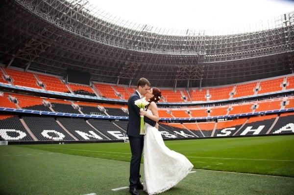Выездная церемония на стадионе