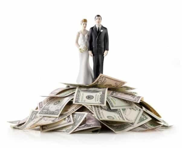 Подаренные деньги на свадьбу
