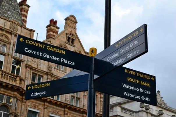 Указатели в Лондоне