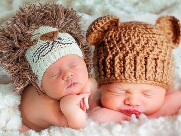 Вязанные детские шапочки
